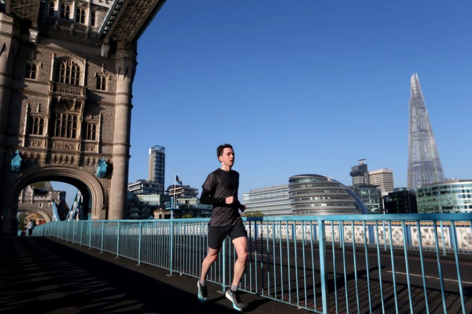 London was named top of a list of 76 European cities for favouring runners