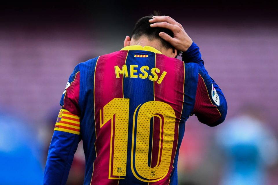 """Lionel Messi will leave Barcelona FC this summer after spending his whole career at the club due to """"financial and structural obstacles""""."""