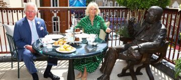 The Prince Of Wales And The Duchess Of Cornwall enjoy afternoon tea