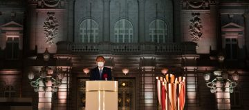 Paralympic Flame Lighting Ceremony Held In Tokyo