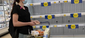 Supermarket Shelves Empty As Covid And Brexit Lorry Shortage Frustrate Restocking