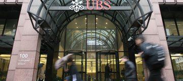 UBS Reports Writedowns of 18.5 Billion GBP