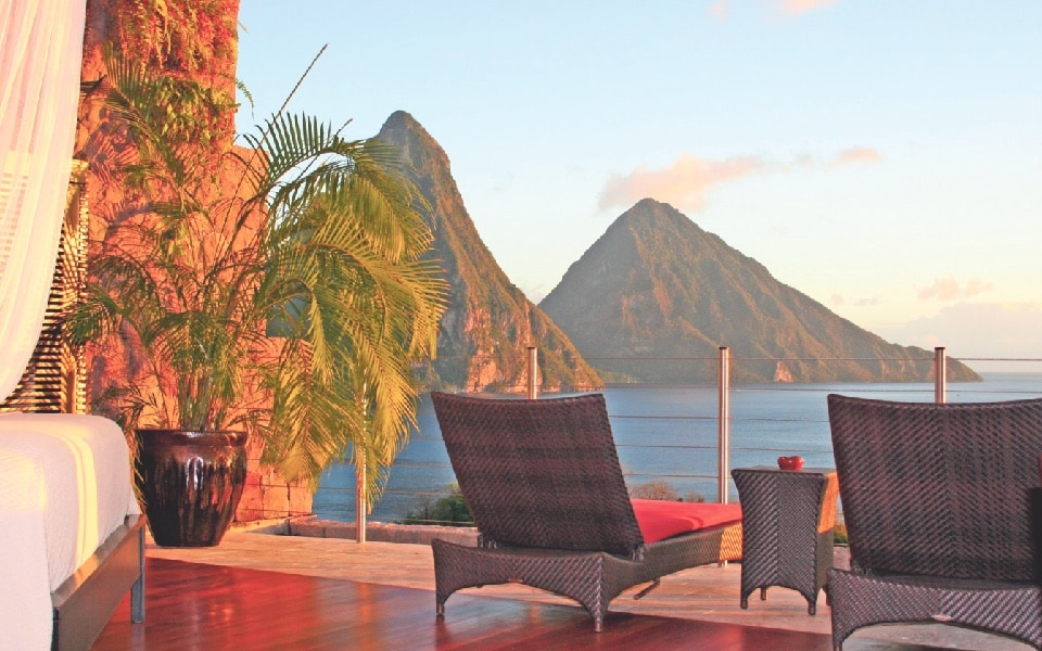 Jade Mountain resort in St Lucia